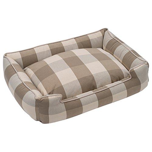 Jax and Bones Buffalo Check Puddy Premium Cotton Blend Lounge Bed-Medium by Jax & Bones