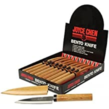 "Joyce Chen J50-9940 4"" Bento Knife With Cherry Wood Handle"