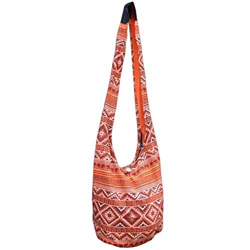 panaisam hombro bolsa, aquí en 2tamaños, 2elefante Diseño & muchos colores, con extra Interior Plástico y teléfono móvil–Bolsillo Interior, calidad 1A Naranja - naranja