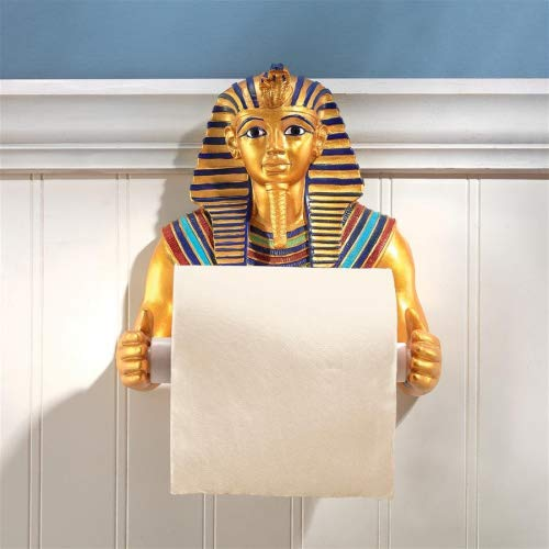 Toilet Paper Holder - King Tutankhamen Egyptian Bathroom Decor - Toilet Paper Roll - Bathroom Wall Decor ()