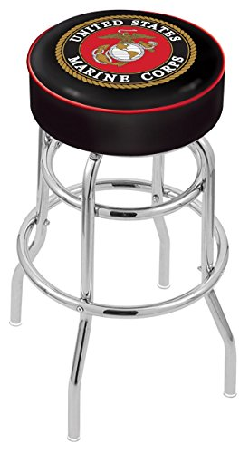 Holland Bar Stool L7C1 United States Marine Corps Swivel Counter Stool, 25
