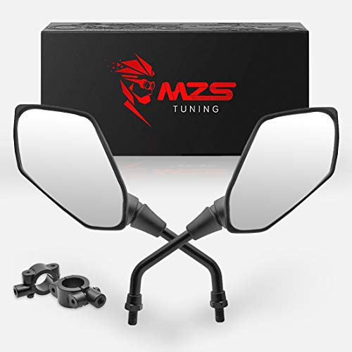 MZS ATV Mirrors Hawk-Eye Rear View Convex Universal 7/8 Handlebar Mount compatible Motorcycle Scooter GY6 Dirt Quad Bike Coolster ATV's Polaris Yamaha Arctic Cat Can-am Honda Kymco Kawasaki KTM Suzuki (Best 450 Dirt Bike 2019)