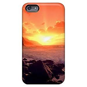 iphone 6plus 6p Back cell phone case trendy Hybrid sunset ocean