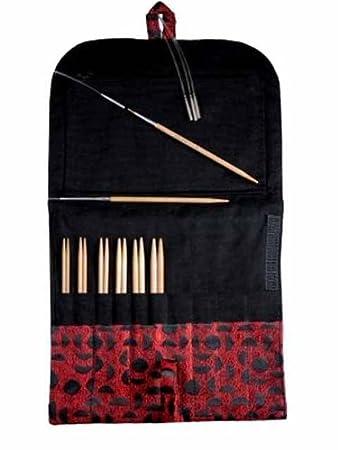 HiyaHiya Interchangeable Needles Set, Sharp Small sizes, 4 + FREE 2 Panda Li Stoppers BCAC34108