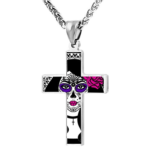 Elelab Witch Cross Necklace Pendant Creative Personalized Accessories Prayer Christian 24 (Simple Dead Halloween Makeup)