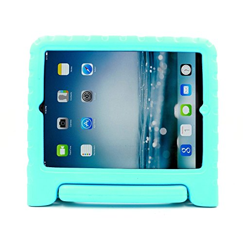 AGRIGLEER Kids Case -Light Weight Shockproof Rugged Impact Resistant Protective Case Cover Handle Stand Compatible with Apple iPad Mini 1 2 3 Retina (Teal)