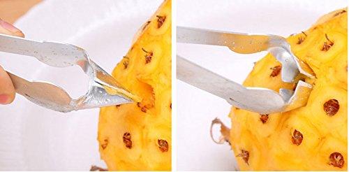 efbock Outils de Coupe de Fruits de Fer galvanis/é Easy Use Pineapple Seed Clip Pratique Cuisine Gadgets 1pcs
