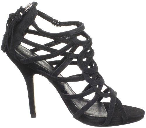 MENBUR Boronzio 04413 - Sandalias de vestir de ante para mujer Negro