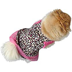 Weiyun Cute Leopard Summer Pet Puppy Dress Small Dog Cat Pet Clothes Apparel