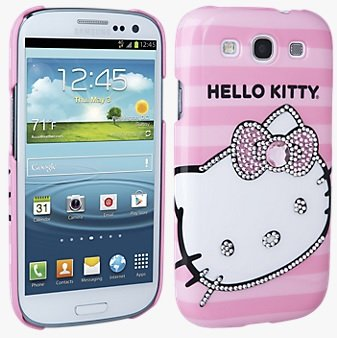 Hello Kitty case for Samsung Galaxy S 3 (Pink/White)