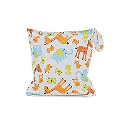 Wet Diaper Bag, Newcomdigi bolsa de pañales de tela Bebé Bolsa de Pañales en húmedo