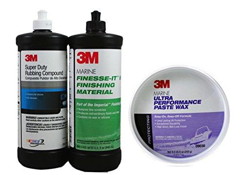 3M Marine Compound/Glaze/Wax Kit 35928/5954/9030