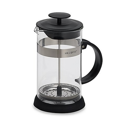Mr. Coffee Manual 4-Cup Coffee French Press Made of Sturdy Stainless Steel Press with Non-Slip Base in Black by Mr. Coffee