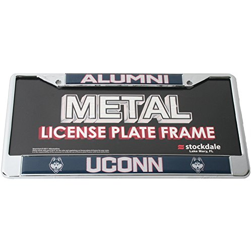Stockdale Uconn Huskies Alumni Metal License Plate Frame W/Domed Insert - Alumni/Uconn - ALT ()