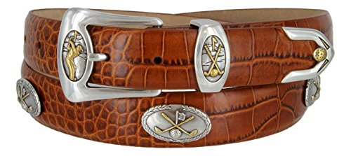 (Bayside- Italian Calfskin Leather Designer Dress and Golf Belt For Men (ATAN,40))