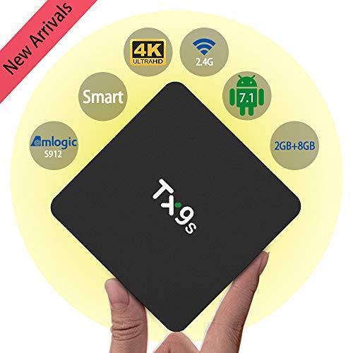 Android TV Box 10, Amlogic s905x3 4GB 32GB Supports 8K 3D 4K, Smart tv Box with Mini Keyboard
