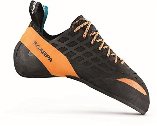 SCARPA Instinct Climbing Shoe - Men's Black/Orange 44