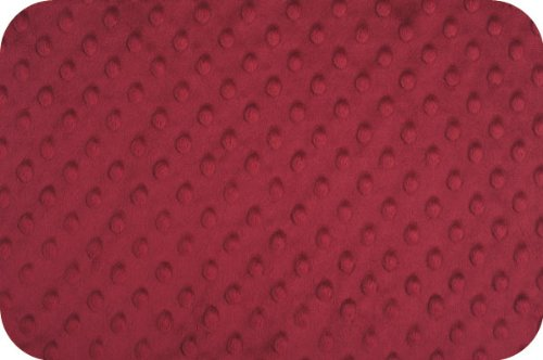 Minky Dimple Dot Burgundy 60 Inch Wide Fabric By the Yard (F.E.®)