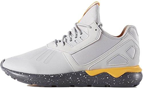 Adidas Rørformede Runner Herre Mode-sneakers Aq8388_9 - Klar Grå / Onix / Neonorange pXqFE