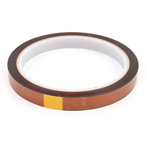 uxcell 10mm Width Heat Resistant High Temperature Adhesive Kapton Tape