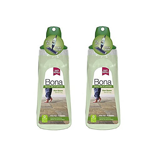 Bona 34 oz. Stone, Tile, and Laminate Floor Cleaner Cartridge, Pack of 2 (Bona Stone Tile)