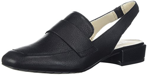 Kenneth Cole REACTION Women's Bavi Menswear Inspired Slingback Loafer Flat, Black, 9.5 M US