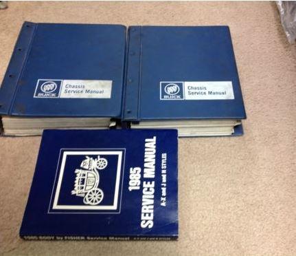 1985 Buick Grand National Riviera ALL MODELS Service Shop Repair Manual Set W ()