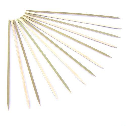 BambooMN Brand - Premium Flat Style Bamboo BBQ Skewers, 11.8