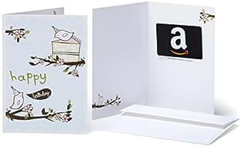 Amazon.com Gift Card in a Greeting Card (Birthday Birds Design)