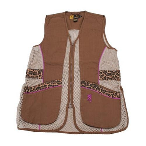 - Browning Lady Sahara Vest, Brown/Leopard, X-Large