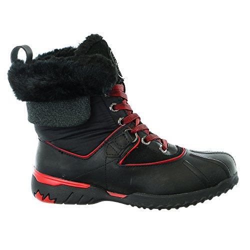 Black black Shoe Snow grey Krystal Leather Pajar red black Womens Boot Winter FB0Zc8S