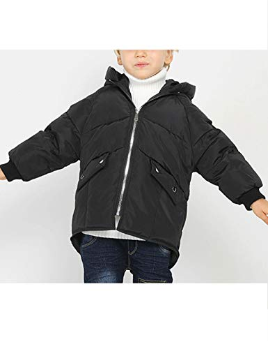 Jacket Cotton Clothes Black Winter Fashion Outdoor Children Hooded Coat Outerwear Children Unisex BESBOMIG Zipper qwB4CTZEz