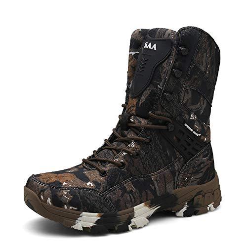 WOJIAO Outillage Tactique pour Hommes Bottes Militaires Quatre Saisons imperméable Antidérapant Chaussures pour Hommes… 1