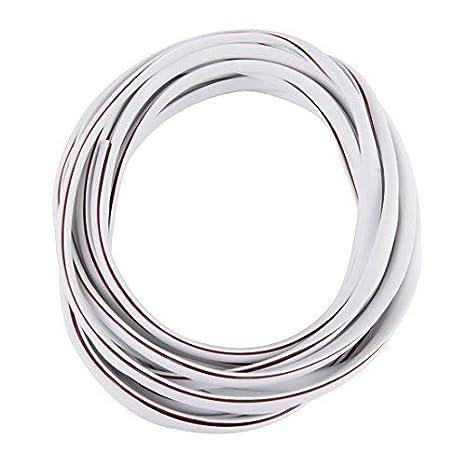 Protección Canto Puerta 5m en Blanco para Coche - Perfiles en u Altamente Flexible - Cortable