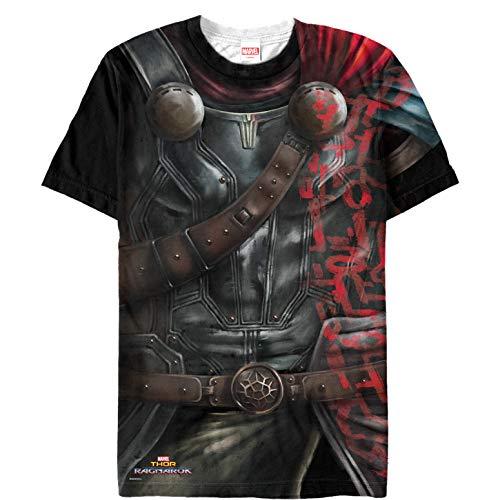 Marvel Men's Thor: Ragnarok Armor Costume Multi-Color All-Over Print T-Shirt]()