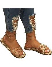 Lanbowo Kadın sandaleti, modaya uygun, şeffaf, bilek kayışlı, sandalet