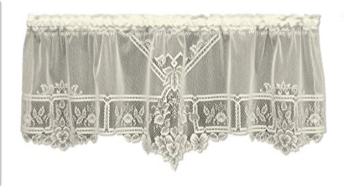 Heritage Lace Heirloom 60-Inch Wide by 22-Inch Drop Sheer Valance, Ecru