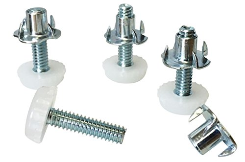 dhs-medium-duty-nylon-furniture-levelers-1-4-threaded-shank-w-t-nuts-400-lb-total-capacity-adjusts-f