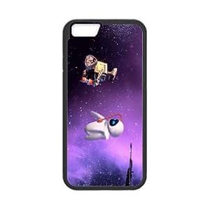 Wall E y Eva 006 iPhone 6 4.7 pulgadas Caso de la cubierta del teléfono celular Negro Funda EVAXLKNBC03038