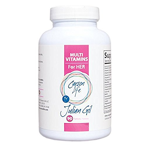 CARSON LIFE Women's Multivitamin by Julian Gil – 90 Tablets – Dietary Supplement That Supports Overall Immune System Health and Boost Energy Levels – Multivitamin Tablets – Made in The USA