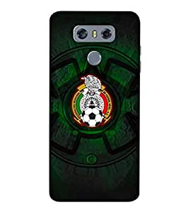 ColorKing Football Mexico 08 Black shell case cover for LG G6