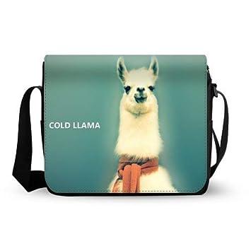 Llama Lama Oxford tela cruz cuerpo maletín bandolera para ordenador portátil bolsa de hombro: Amazon.es: Electrónica