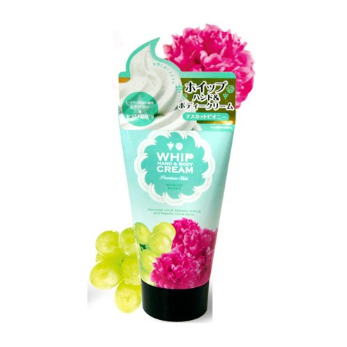 Hand Whip (Pure Smile, Whip Hand and Body Cream 100g, Muscat Peony)