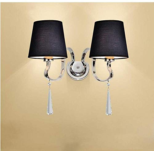 Ceiling Lights Lamps Chandeliers Pendant Light Fixtures Bedroom Bedside Double Head Lamp, European Simple Crystal Wall Lamp , Modern Contemporary Fashion Hotel Light with Light Source E27 for Bedroom