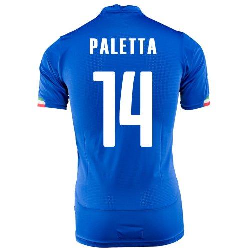 順応性足枷グループPUMA PALETTA #14 ITALY HOME JERSEY WORLD CUP 2014/サッカーユニフォーム イタリア代表 ホーム用 ワールドカップ2014 背番号14 パレッタ