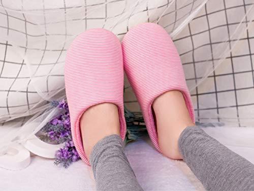 Home Indoor Warm For Shoes Rosa Silent Pantofole Invernali Morbide Flip Flats Couples Da Flop Soft Cotton Uomo Floor Donna Confortevole 40nzxIPxq