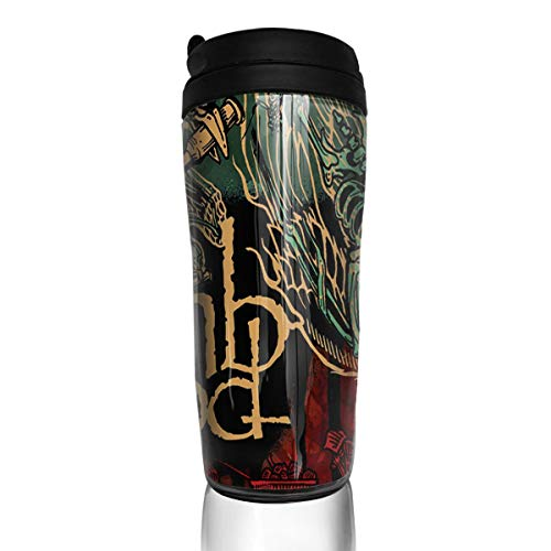 BeatriceBGault Lamb of God Ashes of The Wake ABS Large Capacity 12 Oz Coffee Cups/with Cover Insulation and Leak Proof/Tumbler/Tumblerful/Mug