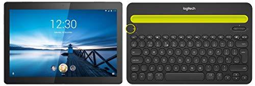 Lenovo Tab M10 Tablet (10.1 inch, 32GB, Wi-Fi + 4G LTE), Slate Black+ Multi Device Bluetooth Keyboard