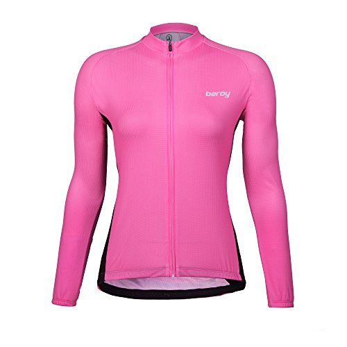 beroy Beory Womens Cycling Jerseys With Long Sleeves,Girls Bike Short Sleeves With Three Pockets (Cycling Long Sleeve Womens Jersey)
