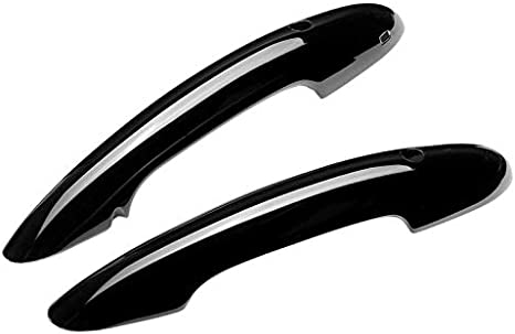 Color : Black POIGN/ÉE DE Porte EXT/ÉRIEURE DE Voiture 2pcs Car Styling ext/érieur Gloss Poign/ée de Porte Noir Brillant Couvertures//Fit for Mini JCW//Fit for Coopers F56 F57 Auto Ext/érieur Pi/èces